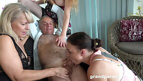 Old man takes his killjoy with the addition of fucks the slutty mature in crazy action